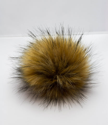 Natural brown pompom