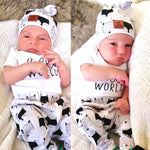 Take home baby outfit fox black & white
