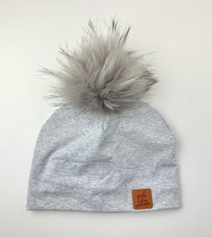 3 Season Toque Light grey