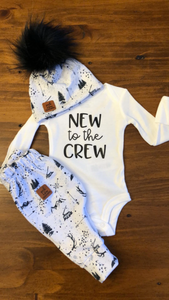 Take home baby outfit woodland