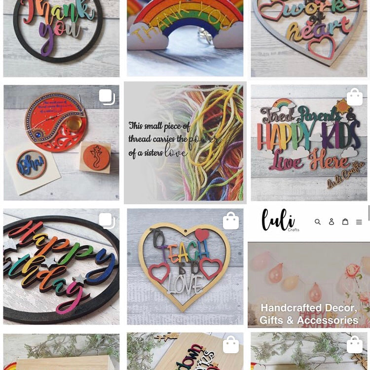 Follow us on Instagram @lulicrafts