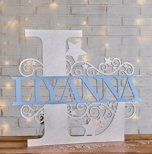 Monogram Letter Name Signs