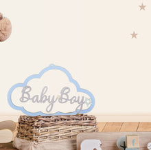 Load image into Gallery viewer, Personalised Wooden Cloud Sign - Pastel Palette