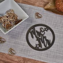 Load image into Gallery viewer, Personalised Wooden Couple Hoop Sign