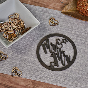 Personalised Wooden Couple Hoop Sign