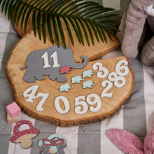 Load image into Gallery viewer, Baby Elephant Milestone Plaques