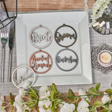 Load image into Gallery viewer, Personalised Bridal Party Circle Names