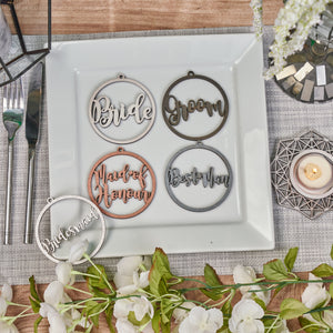 Personalised Bridal Party Circle Names