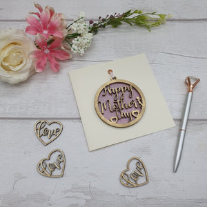 Happy Mother Day Keepsake Bauble Card