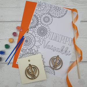 Vaisakhi Craft Pack with card