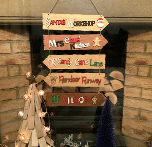 Christmas Direction Sign