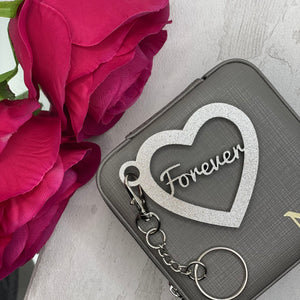Heart Key Chain Bag Tags