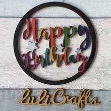 Load image into Gallery viewer, Happy Birthday Hoop Sign
