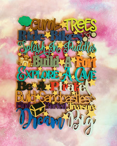Children's Inspirational Sign - Climb Trees