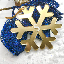 Load image into Gallery viewer, Gold Acrylic Snowflake Bauble