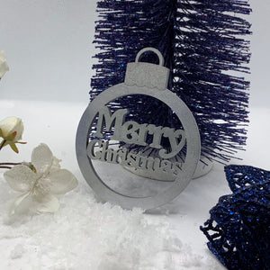 Merry Christmas Bauble Keepsake Card