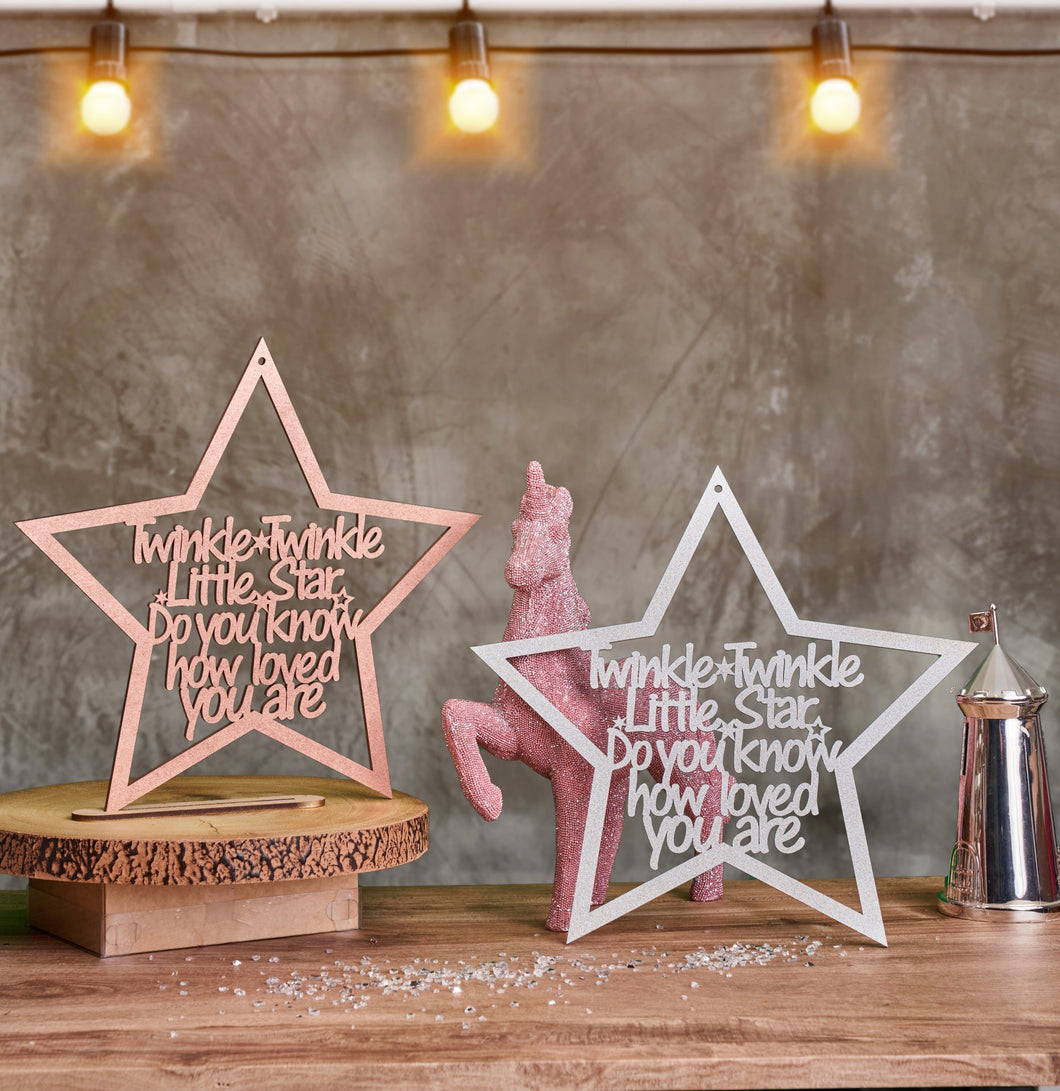 Large Twinkle Twinkle Wall Sign