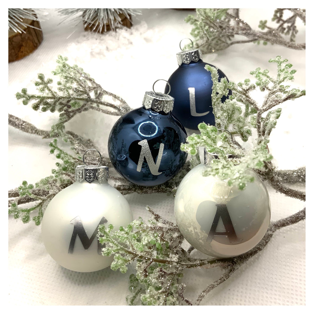 Personalised Miniature Christmas Baubles - 4 or 8 Pack