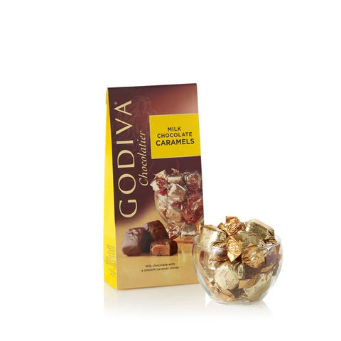 Godiva - Wrapped Milk Chocolate Caramels, Large Bags, #6140528