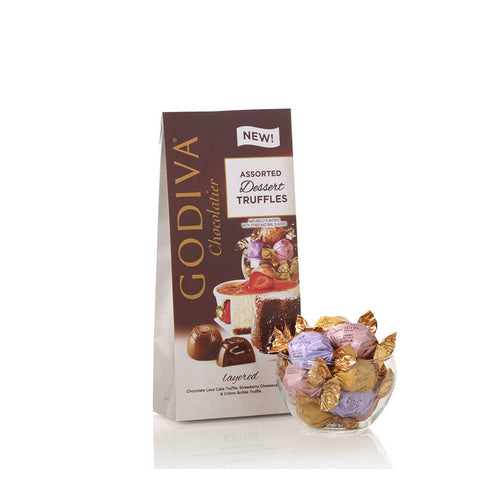 Godiva - Wrapped Assorted Chocolate Dessert Truffles, Large Bag, 19 pc. #6124706