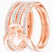 Lifelong Wide Ring, White, Rose-gold tone plated # 6135886
