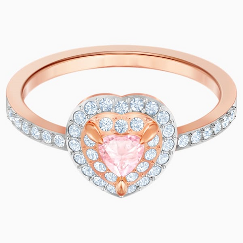 One Ring, Multi-colored, Rose-gold tone plated  # 6139689
