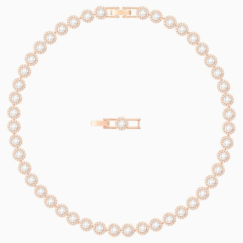 Swarovski - Angelic Necklace, White, Rose-gold tone plated #6135839