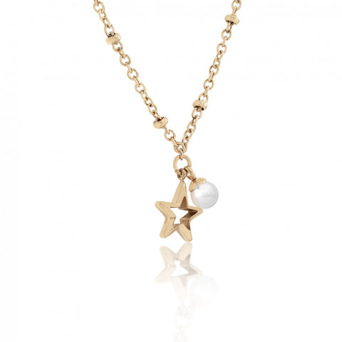 Majorica - Gold Plated Rockstar Necklace #6143025