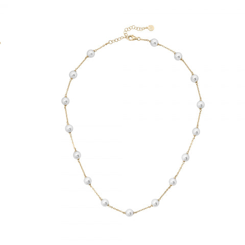 Majorica - Yellow Gold Illusion Necklace #6136456