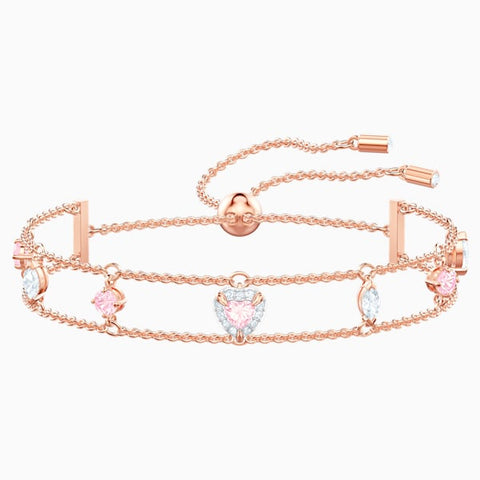 Swarovski - One Bracelet, Multi-colored, Rose-gold tone plated #6139681