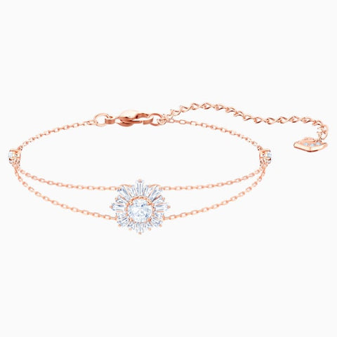 Swarovski - Sunshine Bracelet, White, Rose-gold tone plated #6139706