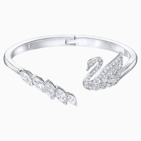 Swarovski - Swan Lake Bangle, White, Rhodium plated #6135853