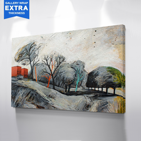 Abstract Trees Canvas Art