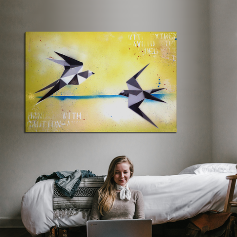 Paper Planes Canvas Wall Art