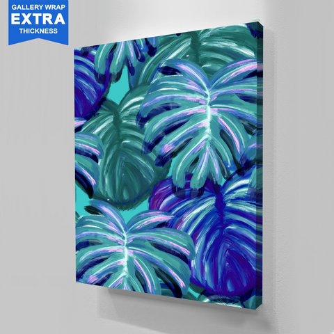 Tropical Blue Canvas Wall Art