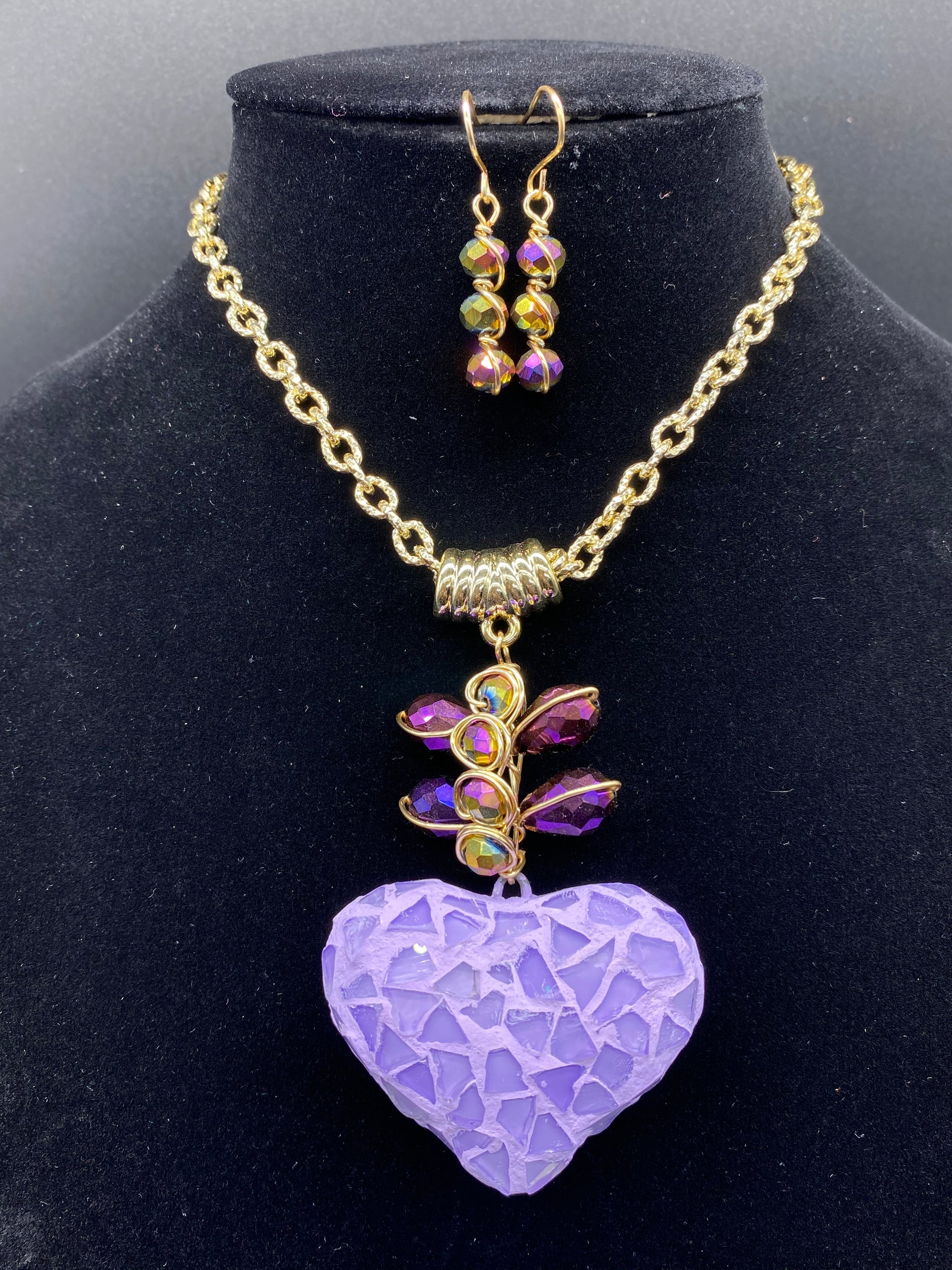 Spectacular Mexican Artisan Set of Necklace and earrings - Corazón Clothing