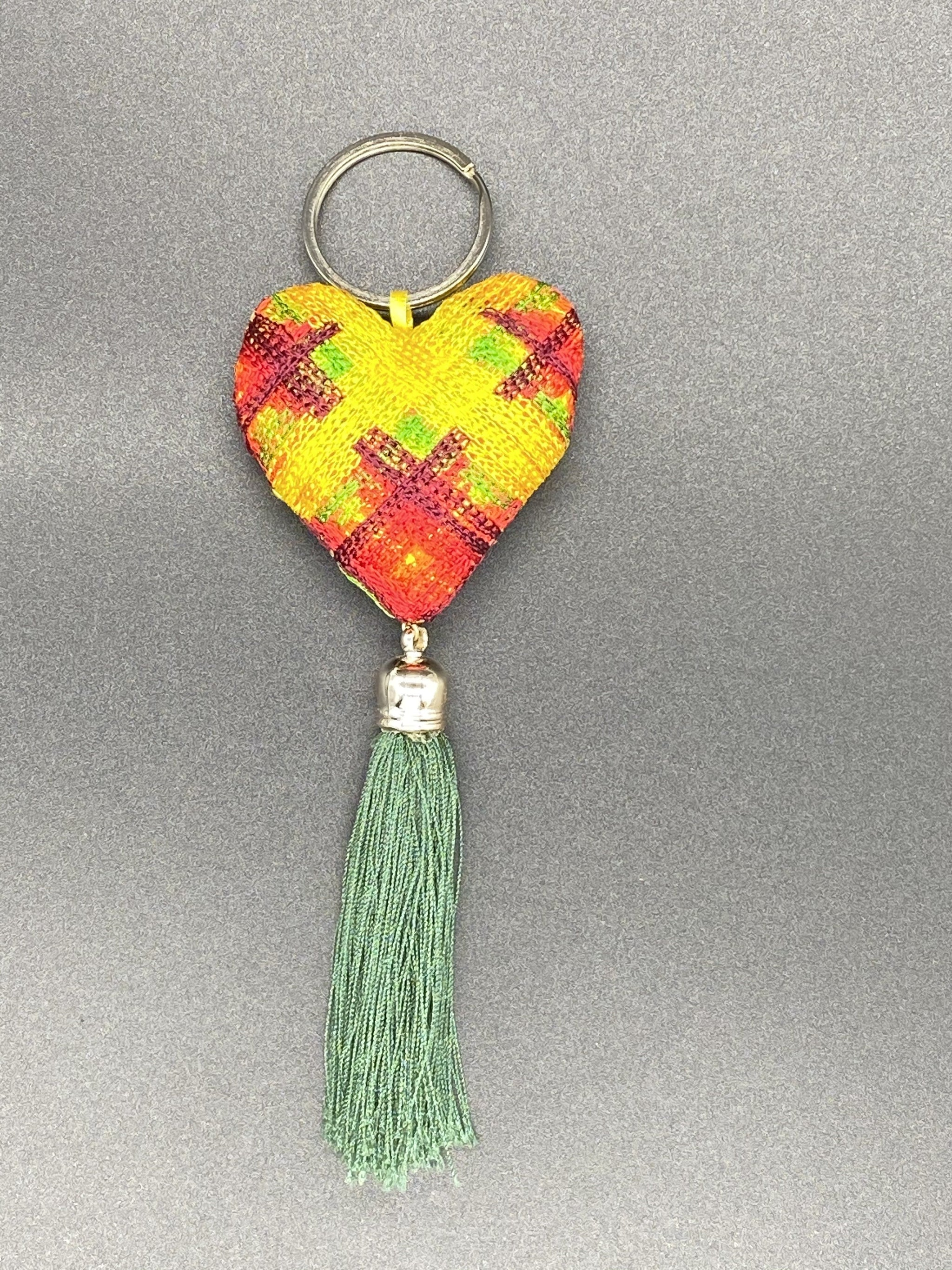 Hand Sewed Heart Keychain - Corazón Clothing