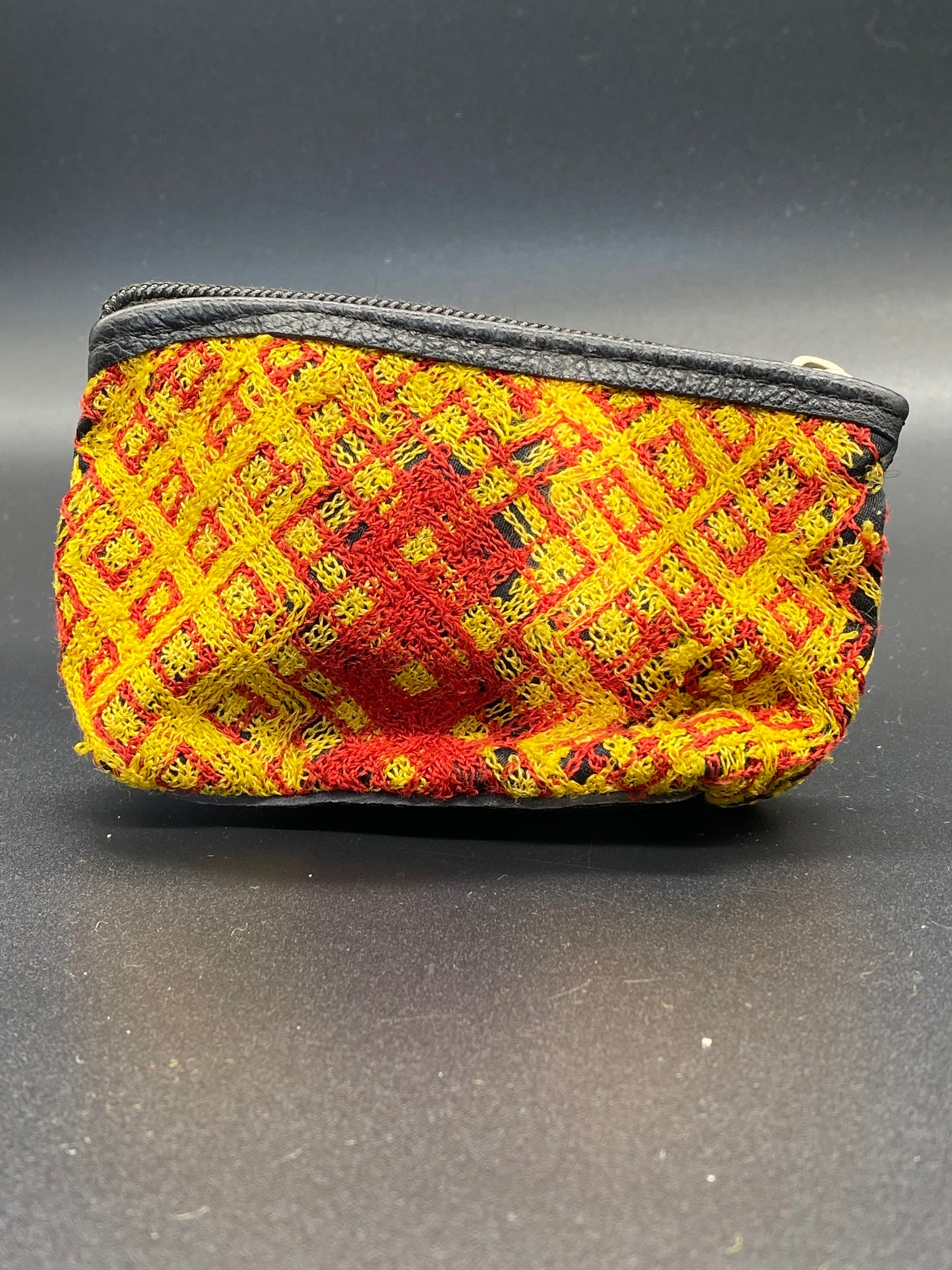 Hand Made Leather And Fabric Coin Purse - Corazón Clothing