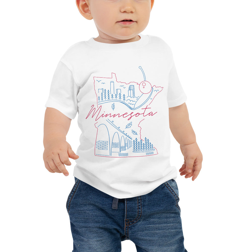 All of Minnesota too Baby Jersey Short Sleeve Tee - Corazón Clothing