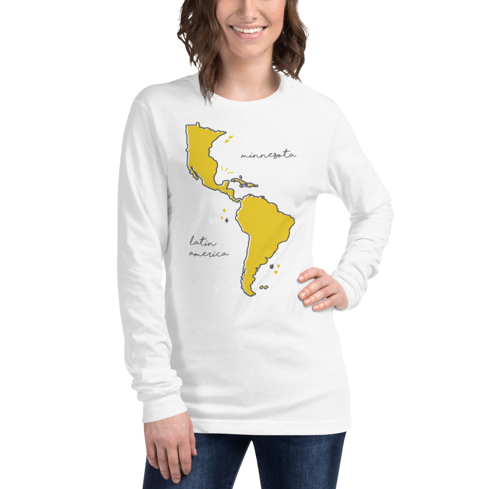 We're All One Unisex Long Sleeve Tee - Corazón Clothing
