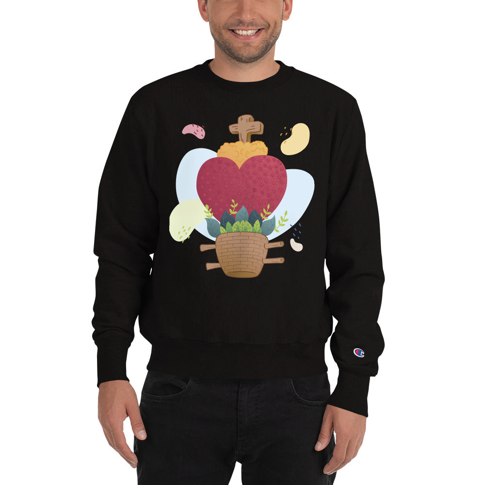 Oaxacan Flower Basket Champion Sweatshirt - Corazón Clothing