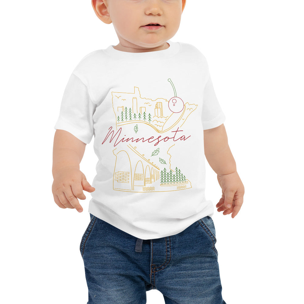 All of Minnesota Baby Jersey Short Sleeve Tee - Corazón Clothing