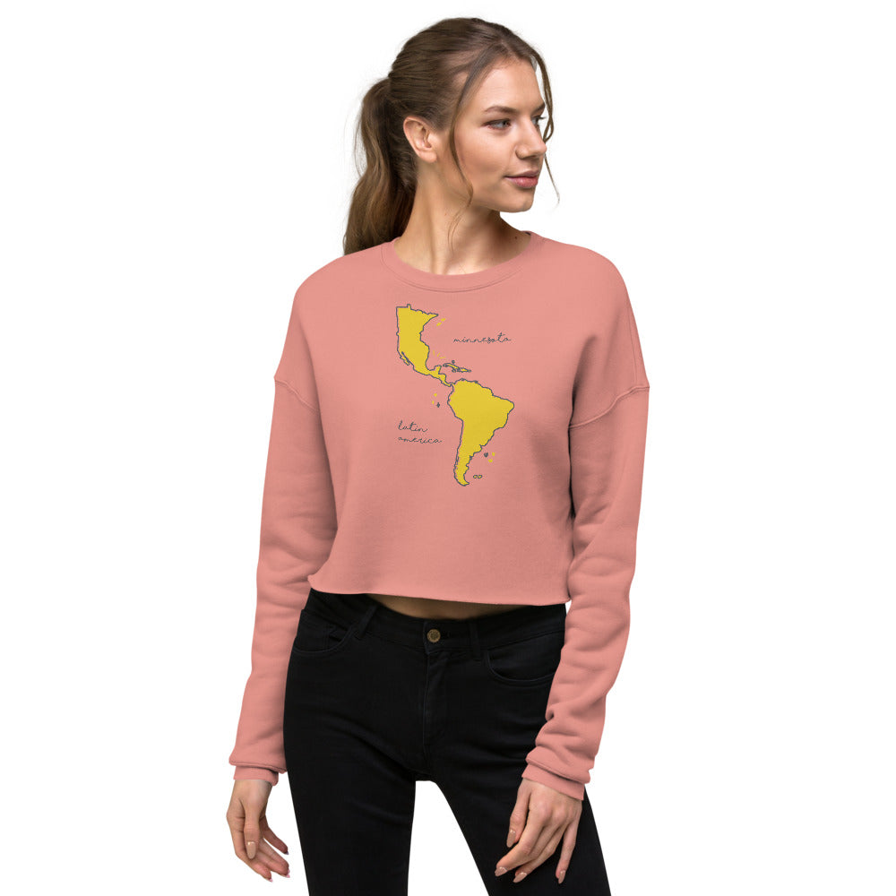 We're All One Crop Sweatshirt - Corazón Clothing