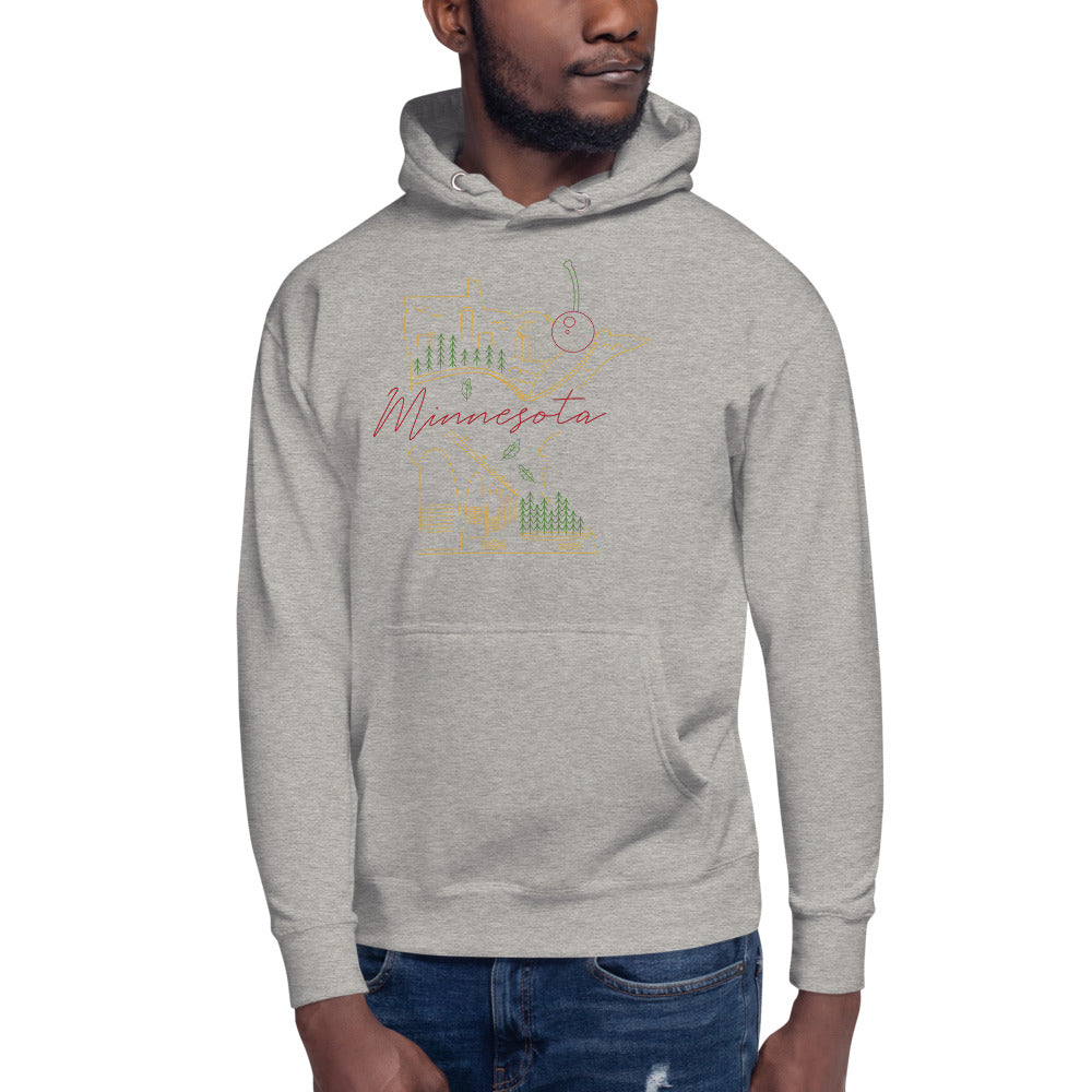 All of Minnesota Hoodie - Corazón Clothing