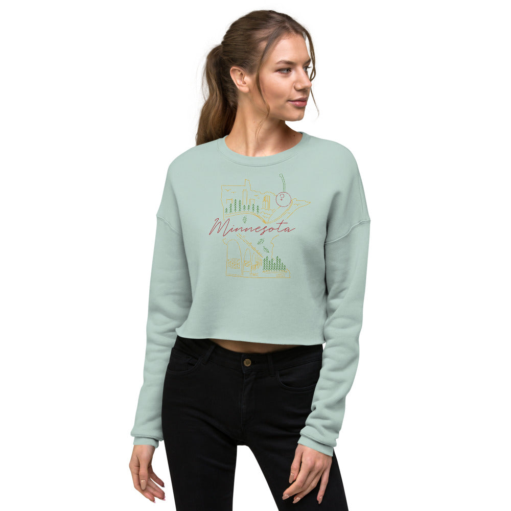 All of Minnesota Crop Sweatshirt - Corazón Clothing