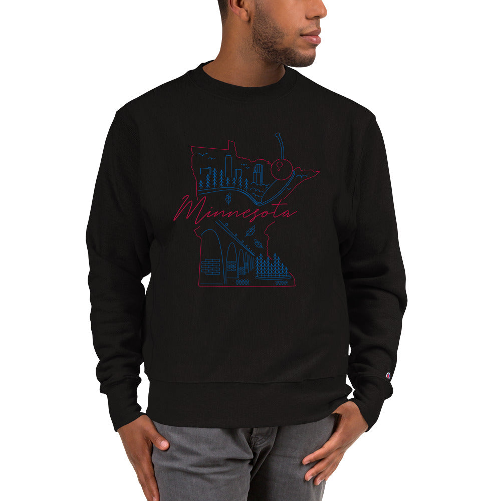 All of Minnesota Champion Sweatshirt - Corazón Clothing