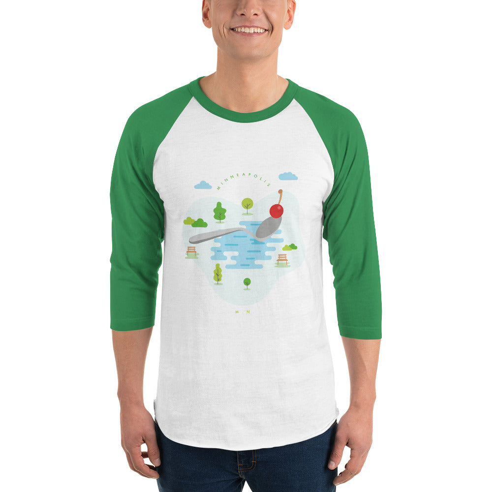 Cherry Bomb 3/4 Sleeve Raglan Shirt - Corazón Clothing