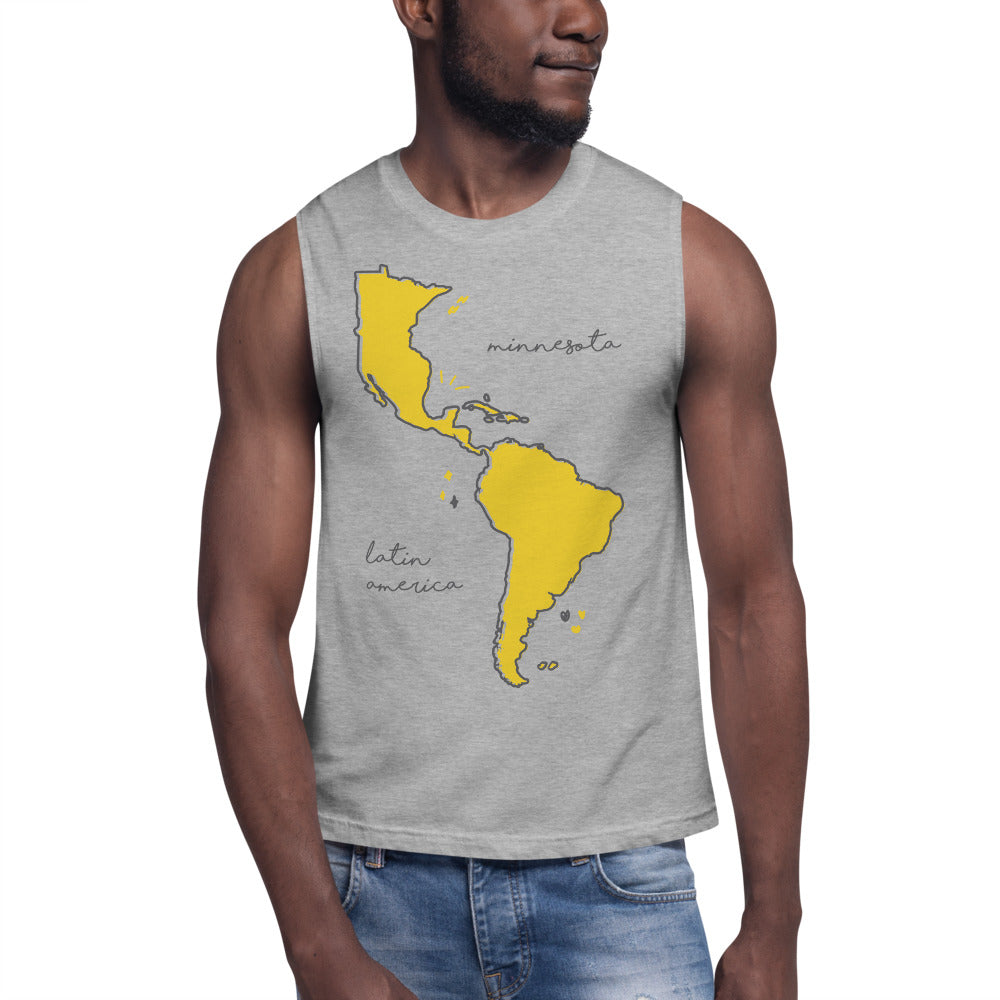 We're All One Muscle Shirt - Corazón Clothing