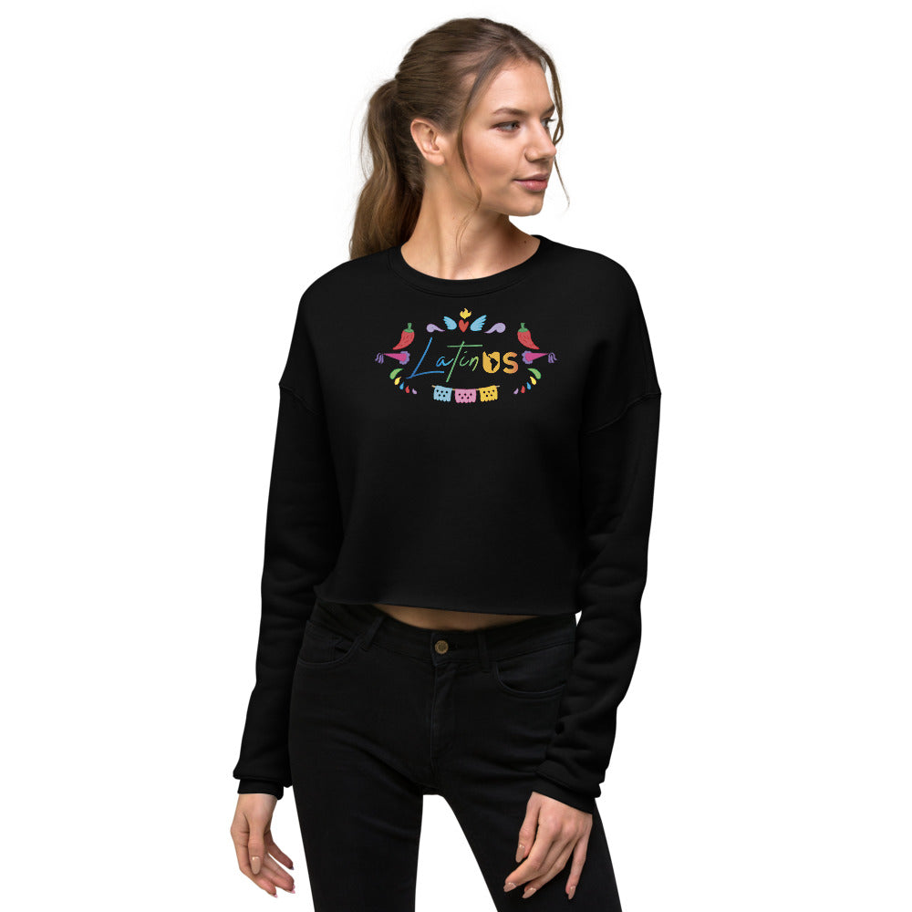 Latin Us Crop Sweatshirt - Corazón Clothing