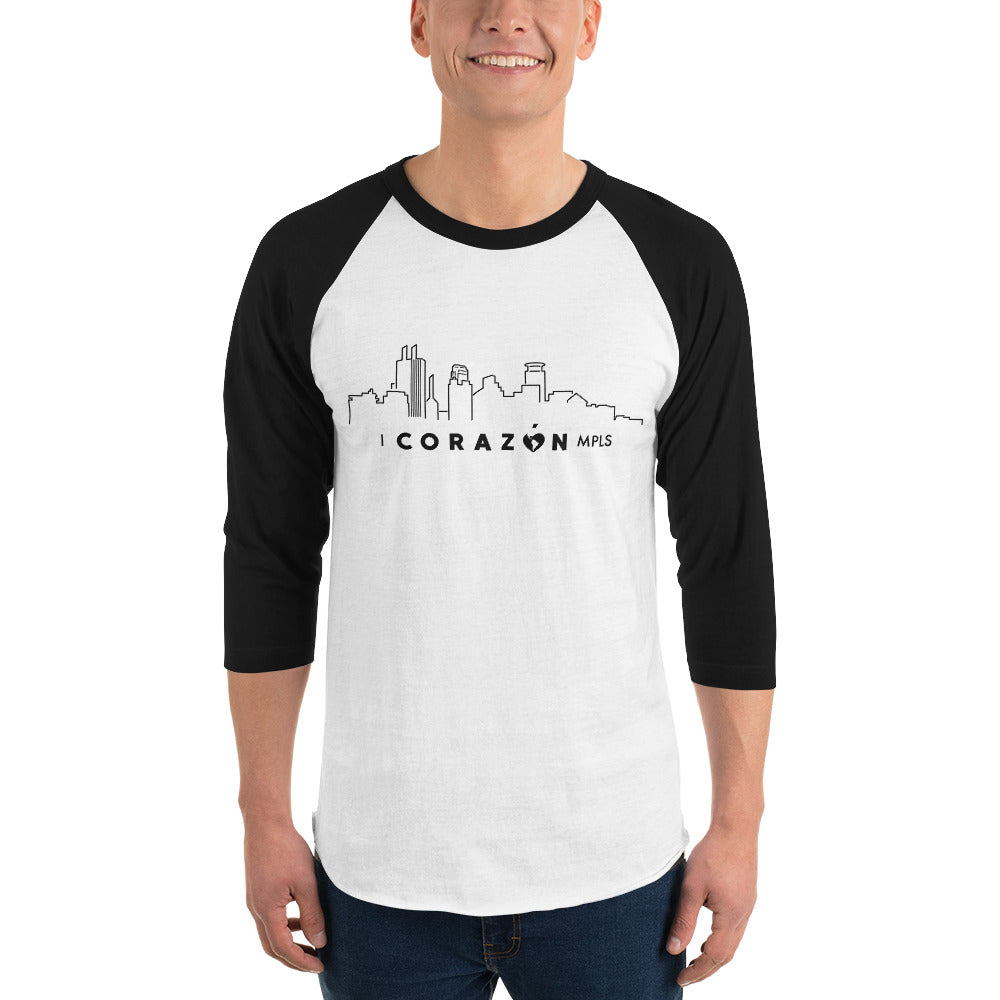 I Corazon MPLS 3/4 Sleeve Raglan Shirt - Corazón Clothing